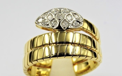 18 kt. Bicolour, Gold, White gold - Ring - 0.30 ct Diamond