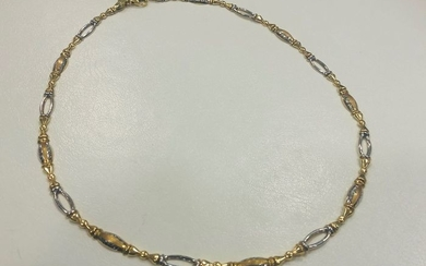 18 kt. Bicolour, Gold, White gold, Yellow gold - Necklace, Choker