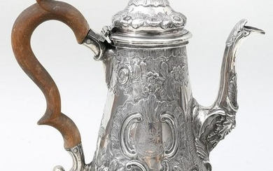 18th century English sterling silver coffee pot