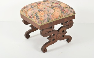 19th Century American Classical Footstool