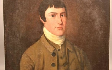 19th Century Oil on Canvas Portrait of a Gentleman.