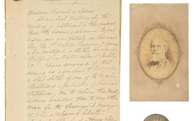 Items Associated with Robert E. Lee, Including Rare CDV