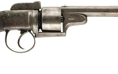 A 54-BORE SIX-SHOT PERCUSSION TRANSITIONAL REVOLVER BY