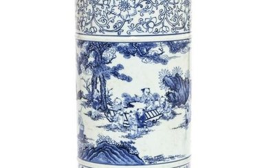 A Blue and White Arrow Vase