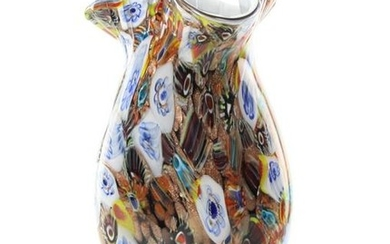 A Bohemian glass vase - Nordic design - abstract flower