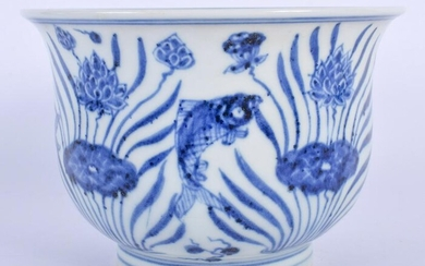 A CHINESE BLUE AND WHITE PORCELAIN BOWL 20th Century.