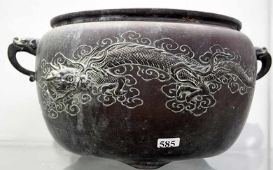 A CHINESE COPPER JARDINIERE