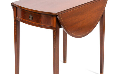 A Federal Style Inlaid and Figured Mahogany Pembroke Table