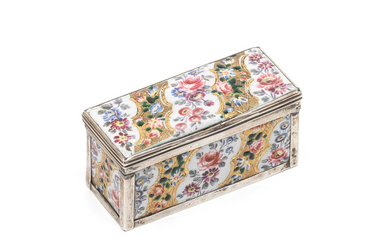 A French 18th century silver and porcelain box