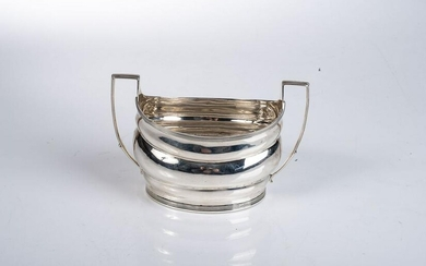 A GEORGE III SILVER CREAM JUG, PETER, ANN AND WILLIAM