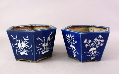 A GOOD PAIR OF 19TH CENTURY CHINESE POWDER BLUE AND