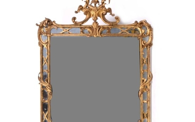 A George II style carved gilt wood and gesso pier glass