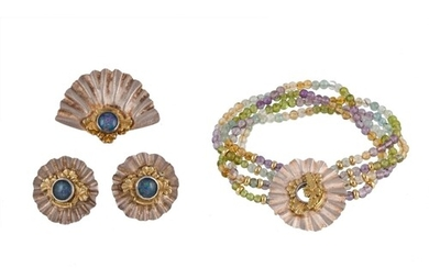 A MODERN CONTEMPORARY JEWELLERY SUITE BY ALISON BRADLEY OF L...