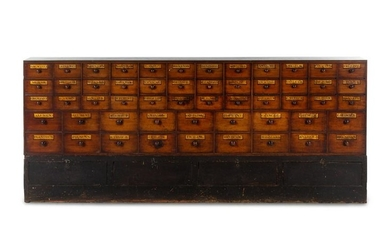 A Victorian Stenciled Apothecary Cabinet