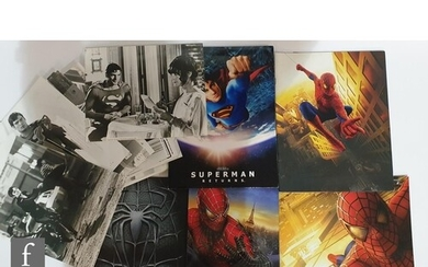 A collection of Spider-Man and Superman press packs to inclu...