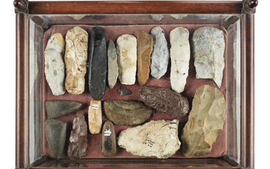 A collection of Stone Age flints