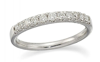 A diamond half-eternity ring, composed of a...