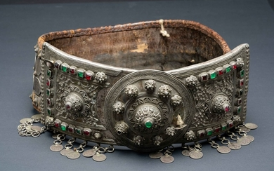 A large and important Russian- Caucus region, silver marriage belt -early 20th century.