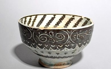 An Islamic pottery bowl probably 19th century, of...