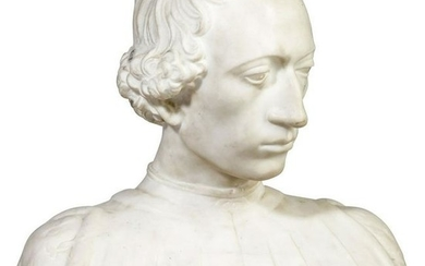 An Italian bust of a young man, in the style of the