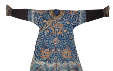 An embroidered silk gauze court robe