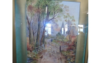 An original framed water colour by the artist M. Moore signe...