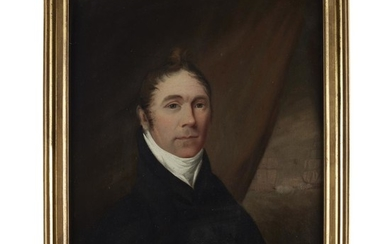 Attributed to Cephas Thompson (1775-1856) Portraits of Mr. and...