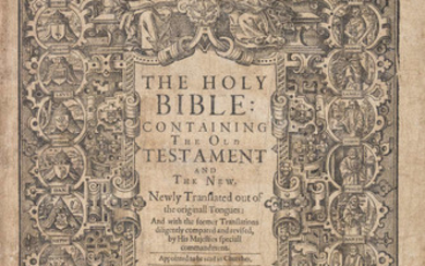 Bible, English.- The Holy Bible: containing the Old Testament and the New. Newly translated out of the originall tongues: and with the former translations diligently compared and revised, by His Majesties speciall commandment, Robert Barker, 1640.