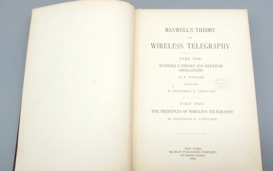 Book Maxwell's Theory and Wireless Telegraphy, First Edition, Mcgraw Publishing, New York, 1904