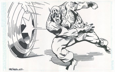 Captain America - Michael Golden Original Art - Loose page - First edition