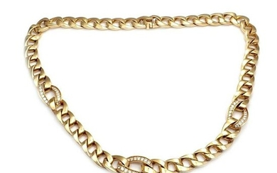 Cartier 18k Yellow Gold Diamond Heavy Link Chain