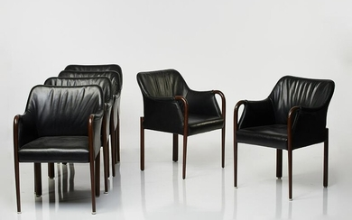 Cassina Leather Armchairs (6)