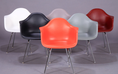 Charles Eames. A set of six armchairs in multicolour, model DAX (6)