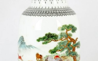 Chinese Decorated Porcelain Vase