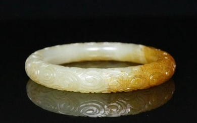 Chinese Hetian Jade Bangle Bracelet