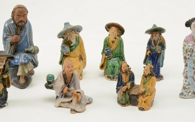 Chinese Porcelain Figures. Lot of [8] figures including