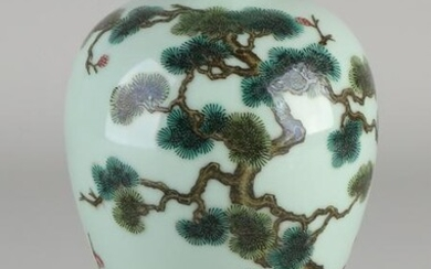 Chinese porcelain vase with light green glaze.