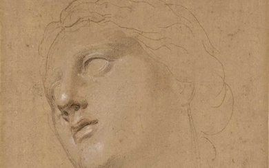 Cipriani (Giovanni Battista, 1727-1785, attributed to). Head of a young woman looking upwards