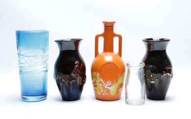 Collection of Vases inc Ceramic, Art Glass and Dairy Farmers Co-op Milk Co LTD
