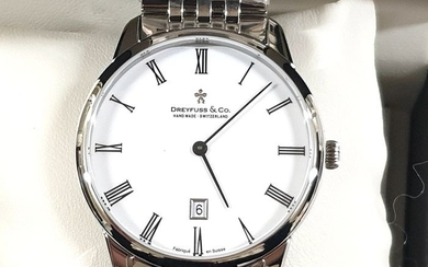 """Dreyfuss & Co. - """" NO RESERVE PRICE"""" 1980 Stainless Steel - Date- DGB00135/01 - Swiss Made - Men - 2011-present"""