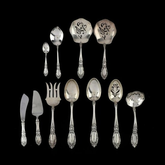 "Eleven Towle ""King Richard"" Sterling Silver Servers"