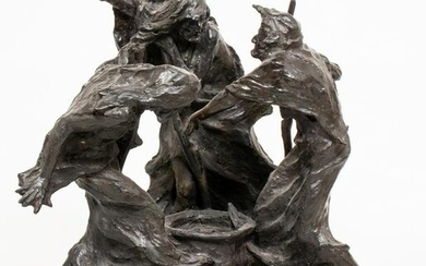 F. Fleming Baxter Macbeth Witches Bronze Sculpture