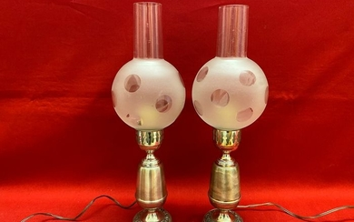 Fine silver lamps - .800 silver - Italy - mid 20th century