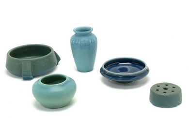 Five American Art Pottery Rookwood and Van Briggle
