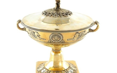 *French Empire silver-gilt soupière, from the Borghese service by Martin-Guillaume Biennais