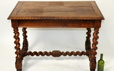 French barley twist bureauplat desk