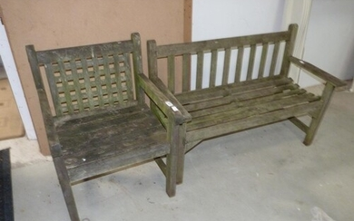 Garden bench and chair