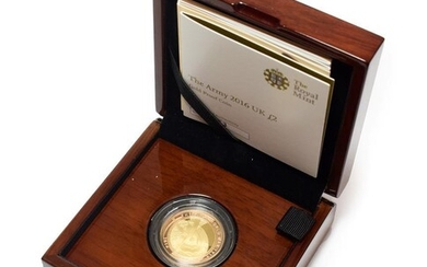 Gold Proof £2 2016 'First World War - The Army,'...