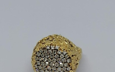 Gold diamond ring Circa 1950