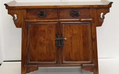 Good Chinese Huanghuali altar cabinet with 2 doors, 109cm wi...